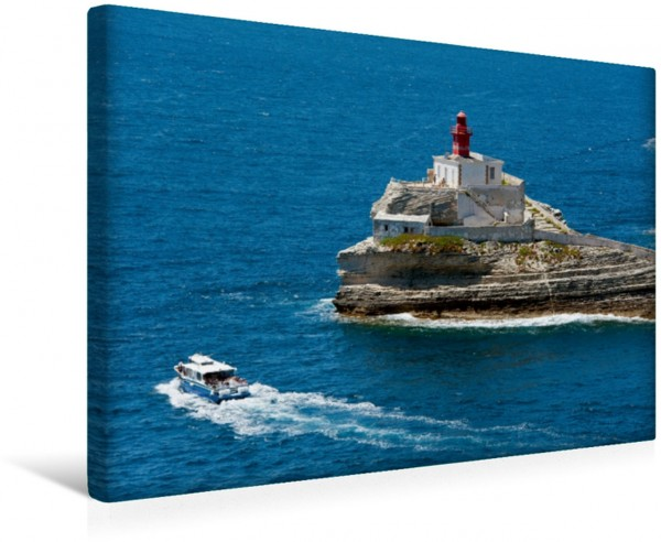 Wandbild Bonifacio - Leuchtturm La Madonetta Korsika Korsika