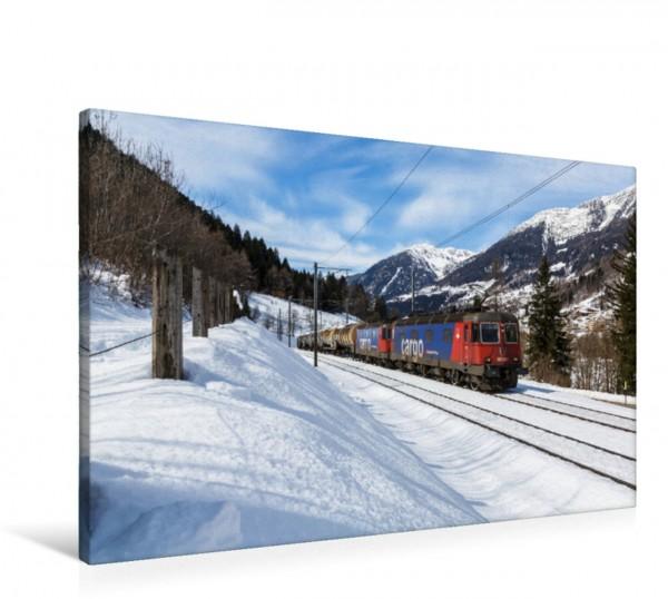 Wandbild Gotthard: Re 620 033-1 Muri AG und eine unbekannte Re 421 bei Quinto