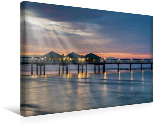 Wandbild Sonnenuntergang an der Seebrücke Heringsdorf Die Ostseeküste Die Ostseeküste