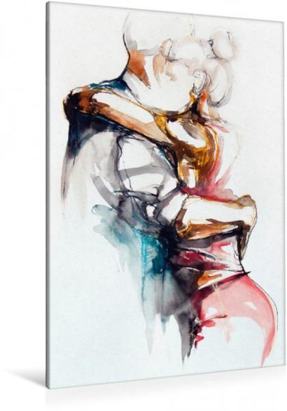 Wandbild Tangopaar N°23, Zeichnung in Mischtechnik Tangokunst von Evelyn Schmidt Tangokunst von Evelyn Schmidt