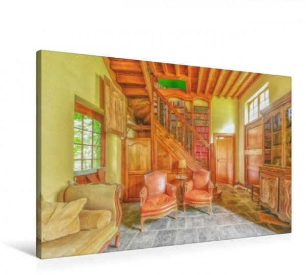 Wandbild Die gemütliche Bibliothek