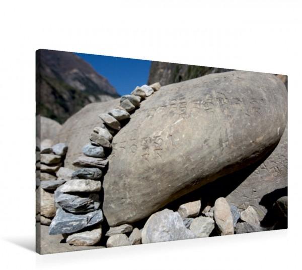 Wandbild Steinkunst Manisteine in Nepal Manisteine in Nepal