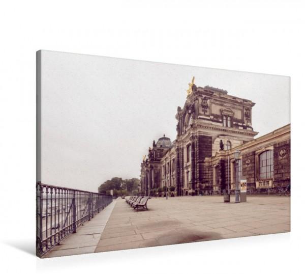 Wandbild Die Brühlsche Terrasse in Dresden Balkon Europas Balkon Europas
