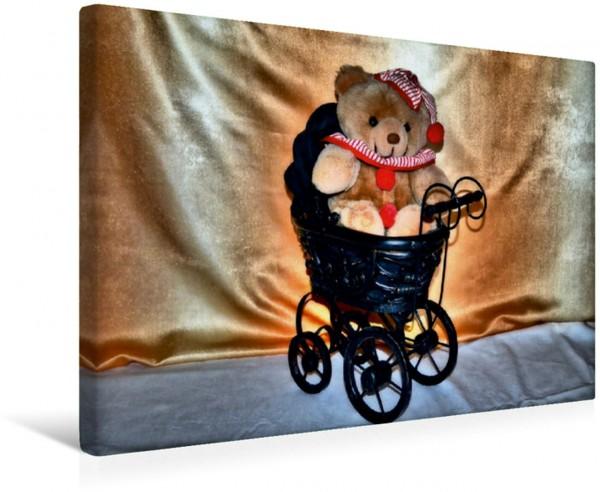 Wandbild Baby Bär Kuscheltier Kuscheltier