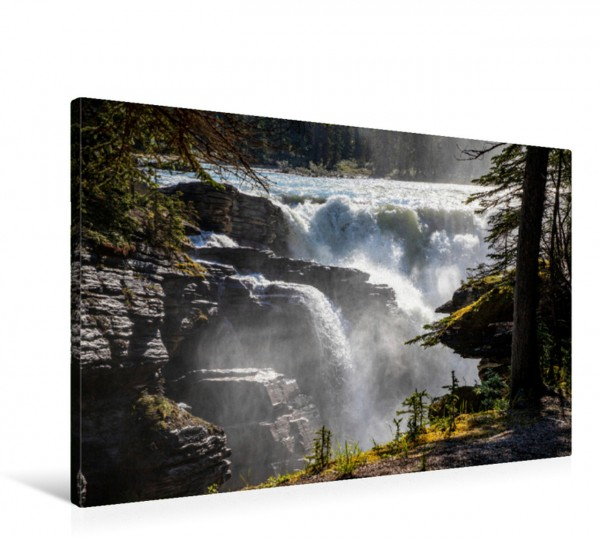 Wandbild Wilder Wasserfall - Athabasca Falls Alberta