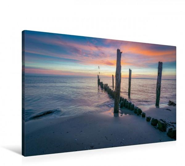 Wandbild Morgen auf Rügen Morgendämmerung an einem Strand auf Insel Rügen Morgendämmerung an einem Strand auf Insel Rügen