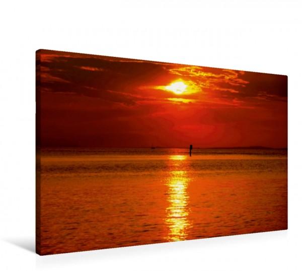 Wandbild Bodensee bei Sonnenuntergang