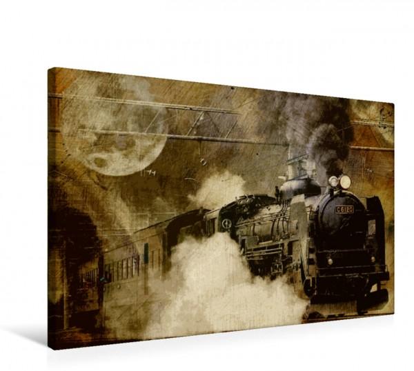 Wandbild Mitternachtszug Eisenbahnromantik kunstvoll interpretiert Eisenbahnromantik kunstvoll interpretiert