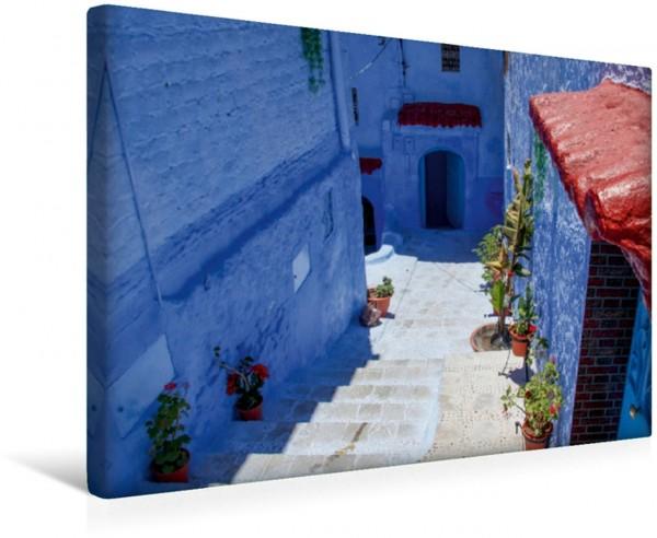 Wandbild Unterwegs in Chefchaouen In den Gassen von Marokkos blau-weißer Perle In den Gassen von Marokkos blau-weißer Perle