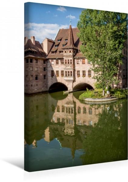 Wandbild Nürnberg Heilig-Geist-Spital und Pegnitz Leinwandbild