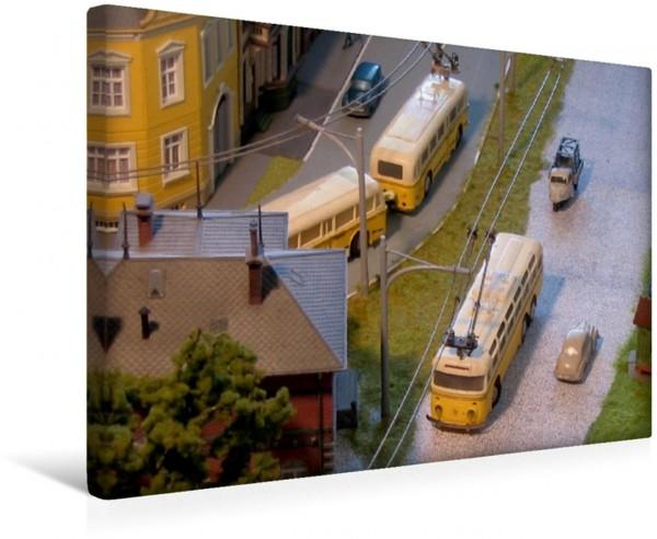 Wandbild Eheim Trolleybusse als Ergänzung zur Modellbahn
