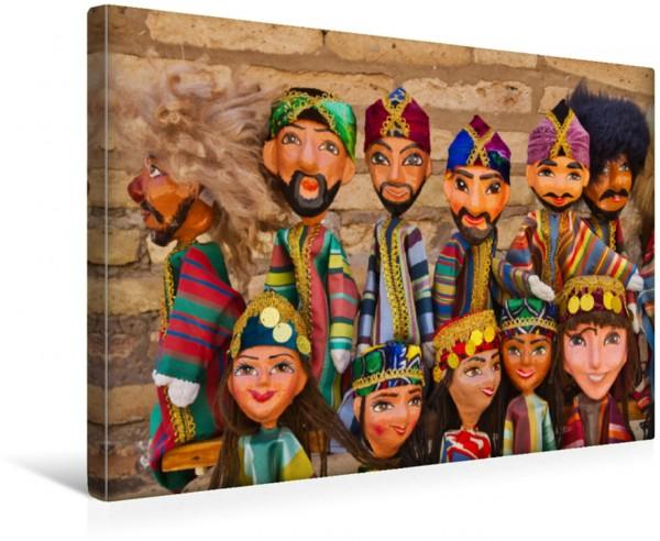 Wandbild Traditionelle Papiermaschee-Puppen