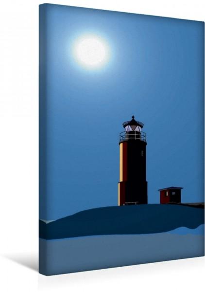 Wandbild Leuchtturm auf der Hallig Langeneß