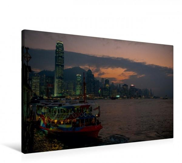 Wandbild Skyline Hongkong Island