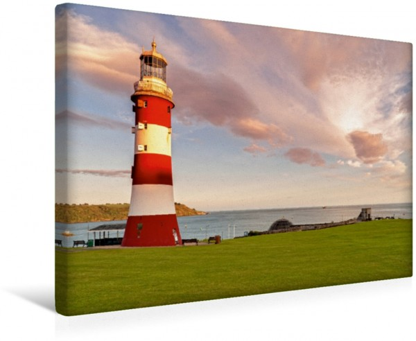 Wandbild Leuchtturm Plymouth Leinwandbild