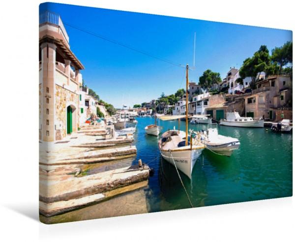 Wandbild Hafen von Cala Figuera