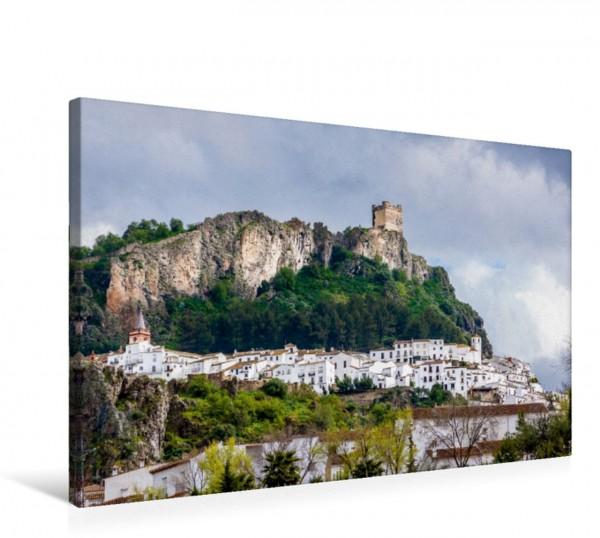 Wandbild Zahara de la Sierra, Weißes Dorf, Spanien