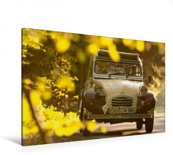Wandbild Dolly auf Herbstausfahrt Citroën 2CV Citroën 2CV