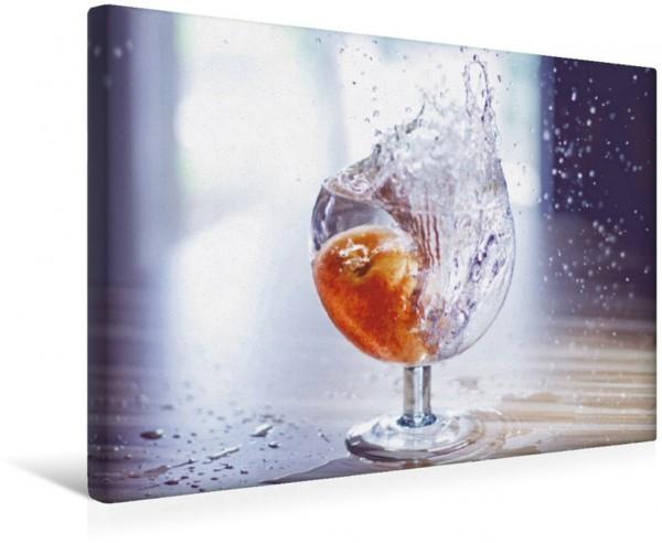 Wandbild Wasserglas Frucht