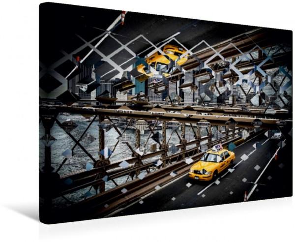 Wandbild Taxi in New York - Polyscape Geometrische Formen trifft New York Geometrische Formen trifft New York
