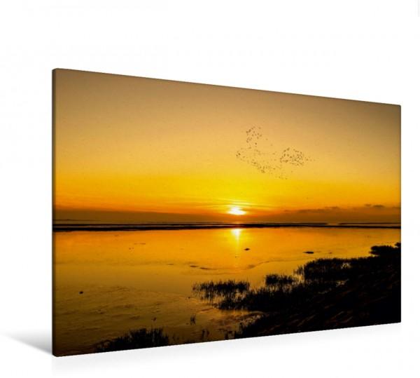 Wandbild Sonnenuntergang Leysiel an der Nordsee Leysiel an der Nordsee