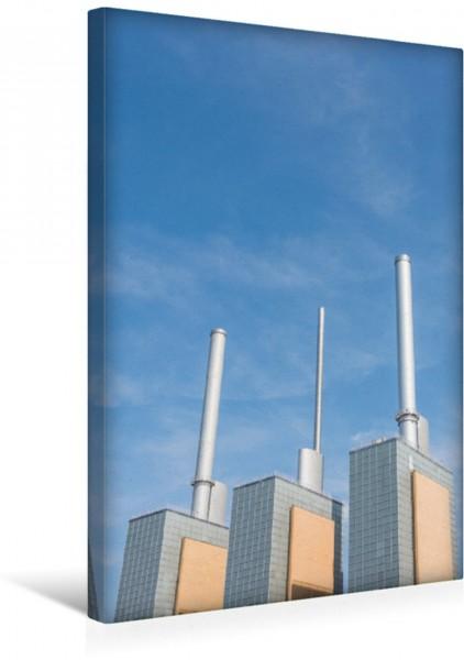 Wandbild Imposante Schornsteine des Heizkraftwerkes Hannover Linden