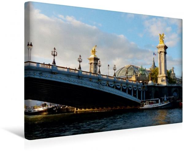 Wandbild Paris, Alexanderbrücke mit Grand Palais