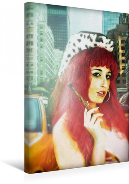 Wandbild Amerikanische Schönheit Junge Frau mit viel Showtalent Junge Frau mit viel Showtalent