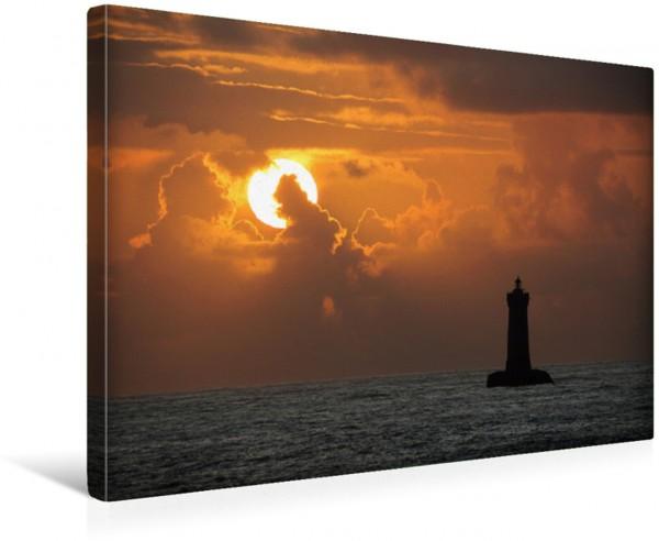 Wandbild Sonnenuntergang beim Phare du Four