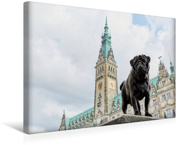 Wandbild Hamburg - Stadt der Möpse