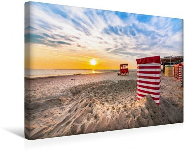 Wandbild Strandblick zum Sonnenuntergang Meine Insel Borkum Meine Insel Borkum
