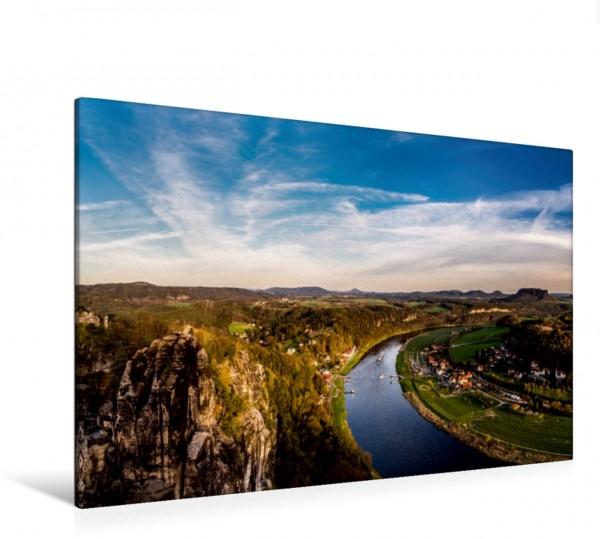 Wandbild Blick über die Elbe, Deutschland