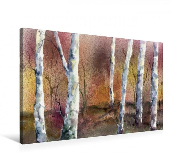 Wandbild Birken
