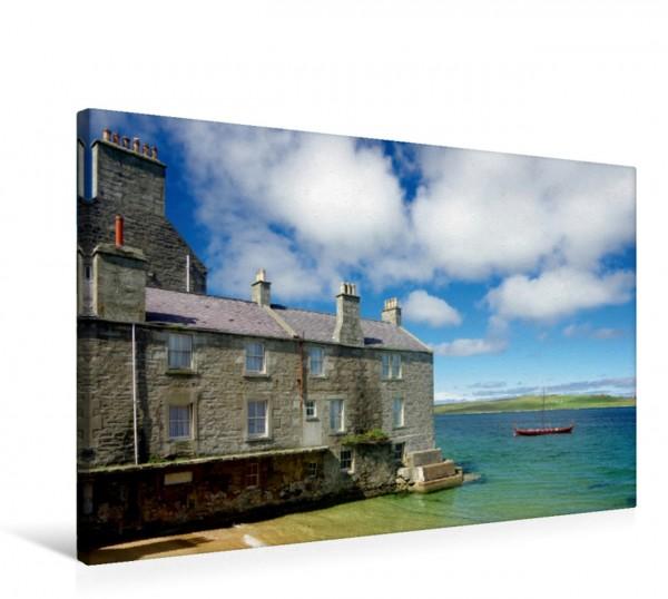 Wandbild Stille Bucht in Lerwick auf den Shetland Inseln