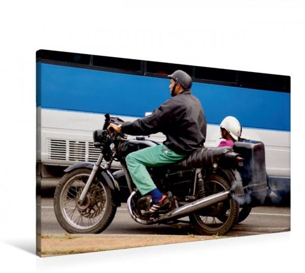 Wandbild Motorrad-Gespann in Havanna