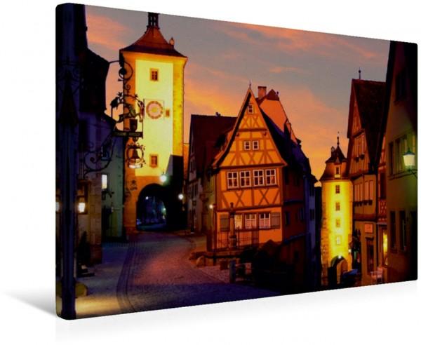 Wandbild Siebersturm und Plönlein, Rothenburg o.d.T.
