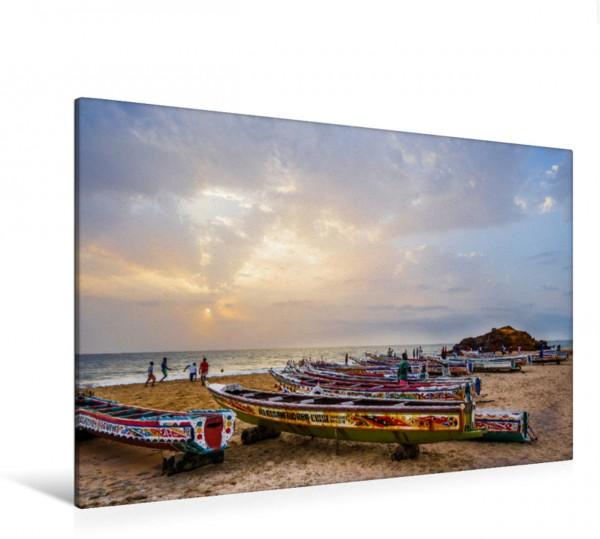 Wandbild Abendlicht am Strand von Toubab Dialao