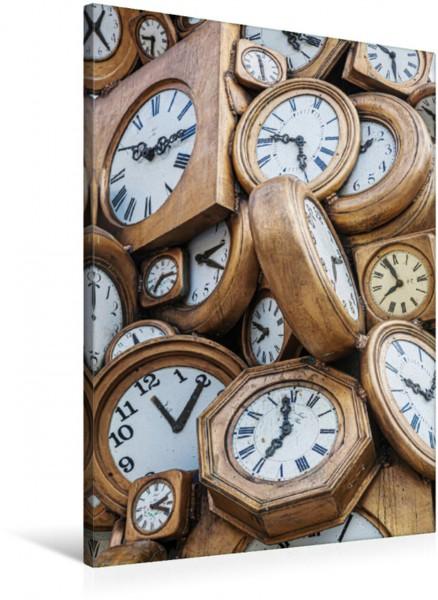 Wandbild Uhrenskulptur vor dem Gare St. Lazare in Paris