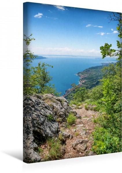 Wandbild Wanderweg Sasso mit Gardaseeblick Wanderweg oberhalb von Sasso mit Gardaseeblick Wanderweg oberhalb von Sasso mit Gardaseeblick