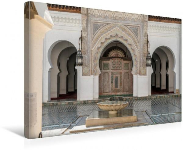 Wandbild Innenhof der Kairaouine Moschee