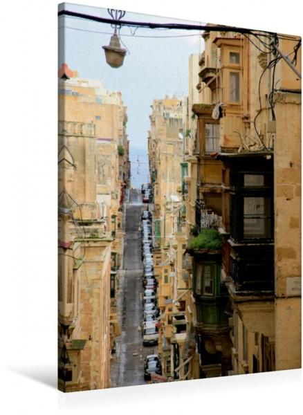 Wandbild Straße in Valletta