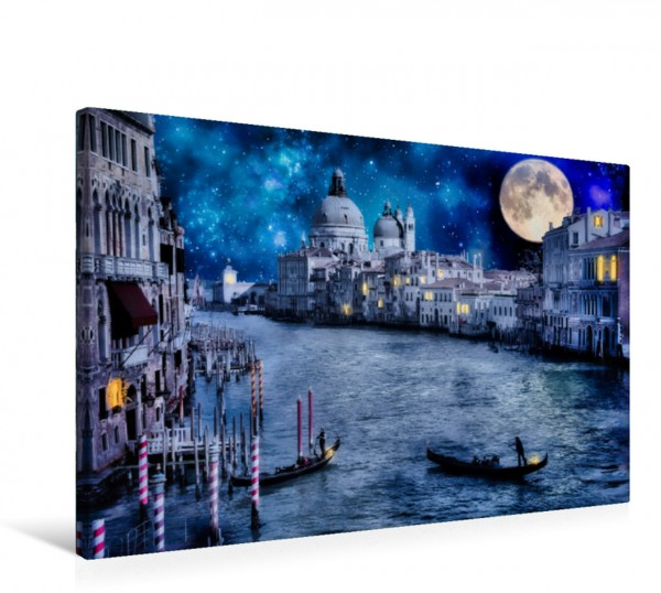 Wandbild Dunkles Venedig