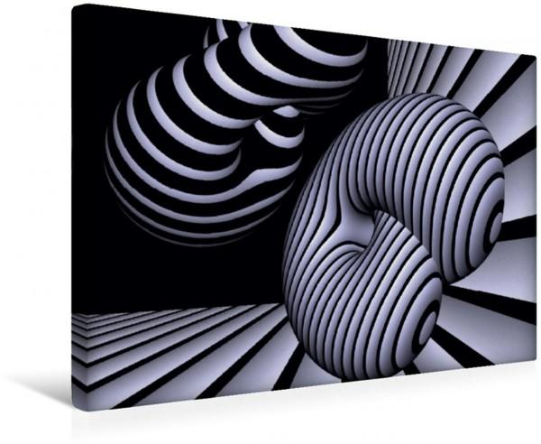 Wandbild 3 Dimensionen - 2 Farben