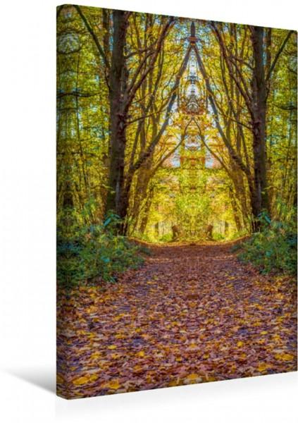 Wandbild Die Welt der Anderen - Spiegelungen des Waldes