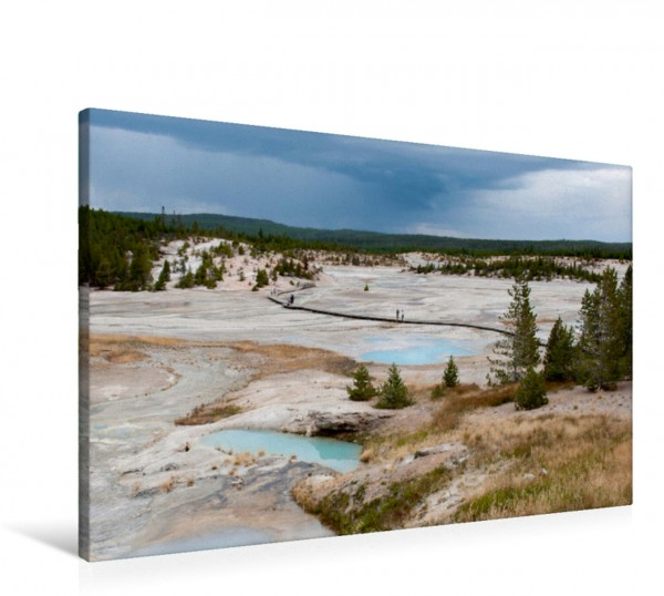 Wandbild Kraterlandschaft im Yellowstone