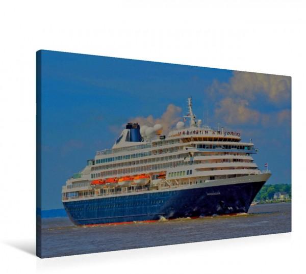 Wandbild Prinsendam Klassisches Kreuzfahrtschiff auf der Elbe Klassisches Kreuzfahrtschiff auf der Elbe