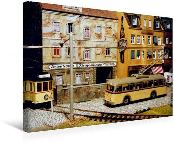 Wandbild Obus- und Straßenbahnverkehr