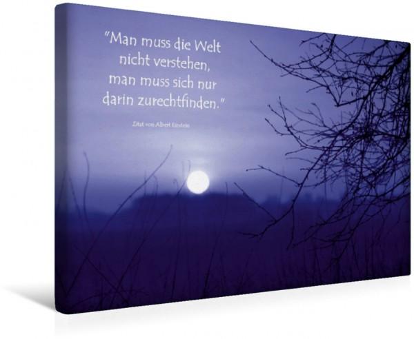 Wandbild Mystischer Sonnenuntergang im Teufelsmoor Zitat von Albert Einstein Zitat von Albert Einstein