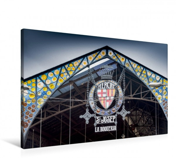 Wandbild Markthalle La Boqueria in der Rambla