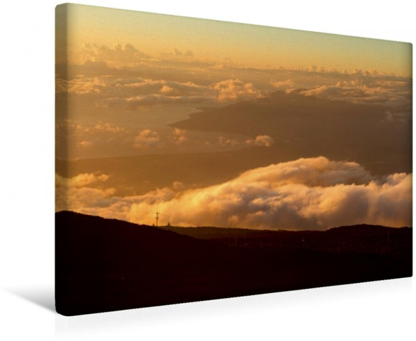 Wandbild Haleakala National Park, Maui, Sicht auf West-Maui